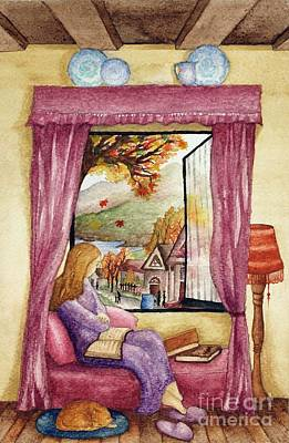 View Of Autumn Scene Poster by Evelyn Sichrovsky