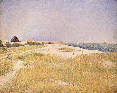 View Of Fort Samson Poster by Georges Pierre Seurat