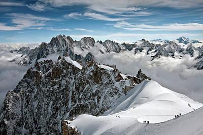 View Of Overlooking Alps Poster by Ellen van Bodegom