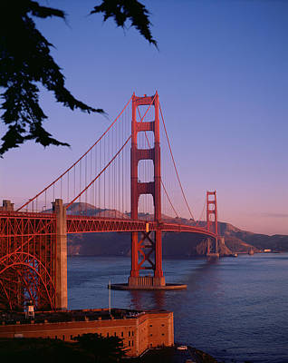 View Of The Golden Gate Bridge Poster by American School