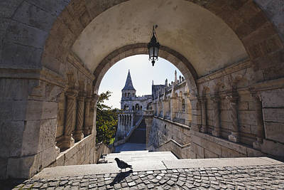 View Through An Arch Fisherman's Bastion Poster by George Oze