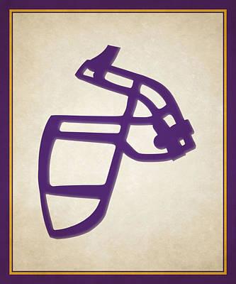 Vikings Face Mask Poster by Joe Hamilton