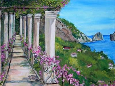 Villa San Michele In Anacapri Poster by Teresa Dominici