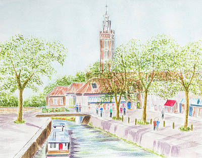 Village Canal Poster by Roy Pedersen