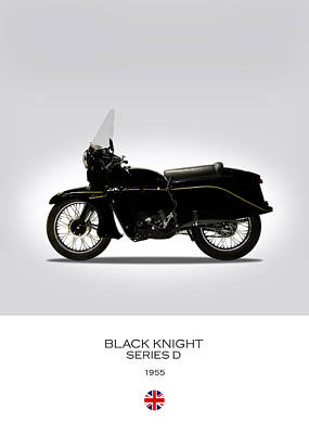 Vincent Black Knight 1955 Poster by Mark Rogan