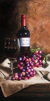 Vino Rosso Poster by Michael Malta