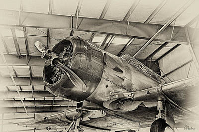 Vintage Airplane Poster by Christine Hauber