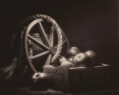Vintage Apple Basket Still Life Poster by Tom Mc Nemar