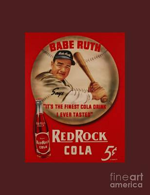 Vintage Babe Ruth Commercial Art Poster by Pd