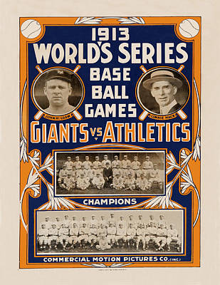 Vintage Baseball 1913 Poster by Andrew Fare