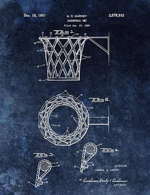 Vintage Basketball Net Patent Poster by Dan Sproul