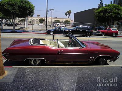 Vintage Buick Skylark. Dark-red Poster by Sofia Metal Queen