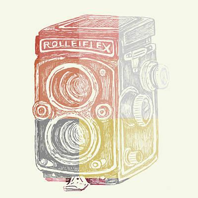 Vintage Camera Poster by Brandi Fitzgerald