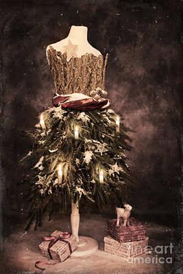 Vintage Christmas Card Poster by Amanda Elwell
