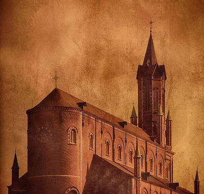 Vintage Church Poster by Wim Lanclus