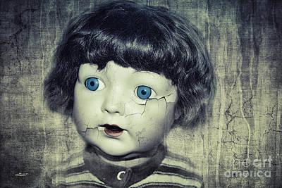 Vintage Doll Poster by Jutta Maria Pusl