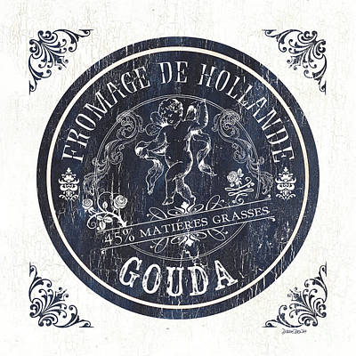 Vintage French Cheese Label 1 Poster by Debbie DeWitt
