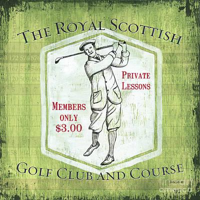 Vintage Golf Green 1 Poster by Debbie DeWitt