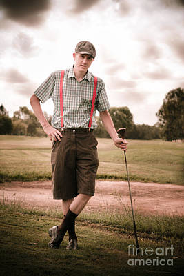 Vintage Golf Poster by Jorgo Photography - Wall Art Gallery