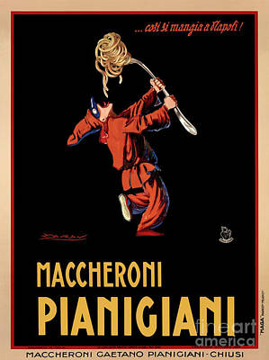 Vintage Italian Pasta Advertising Poster by Mindy Sommers