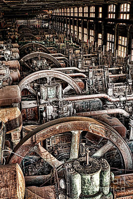 Vintage Machinery Poster by Olivier Le Queinec