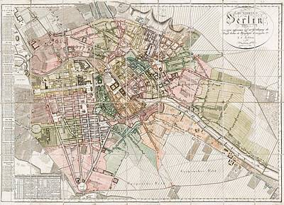Vintage Map Of Berlin - 1811 Poster by CartographyAssociates