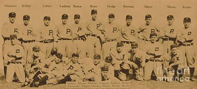 Vintage Philadelphia Phillies Baseball Card  Poster by American School
