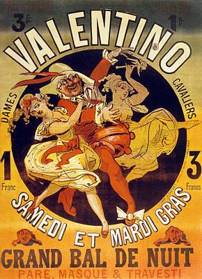 Vintage Poster For Cabaret Valentino  Poster by Jules Cheret
