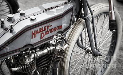 Vintage Racing Harley Poster by Tim Gainey