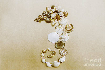 Vintage Seahorse Made Of Sea Shells Poster by Jorgo Photography - Wall Art Gallery