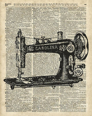 Vintage Sewing Machine Poster by Jacob Kuch