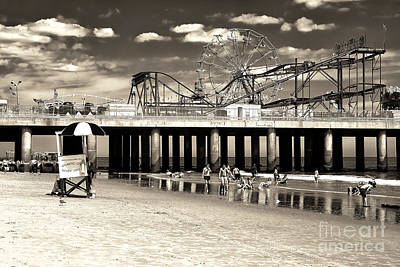 Vintage Steel Pier Poster by John Rizzuto