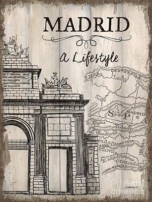 Vintage Travel Poster Madrid Poster by Debbie DeWitt
