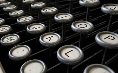 Vintage Typewriter Keys Close Up Poster by Allan Swart