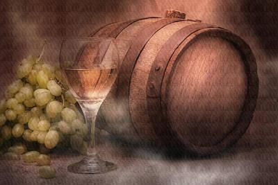 Vintage Wine Poster by Tom Mc Nemar