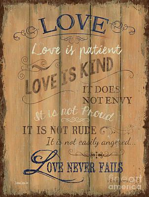 Vintage Wtlb Love Poster by Debbie DeWitt