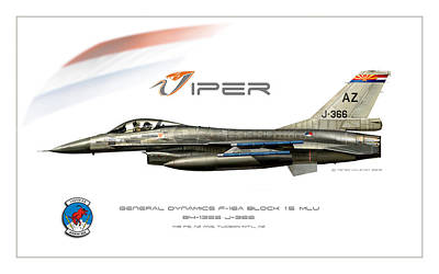 Viper Single Rnlaf Azang Profile Poster by Peter Van Stigt