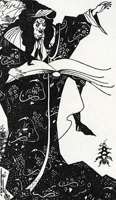 Virgilius The Sorcerer Poster by Aubrey Beardsley