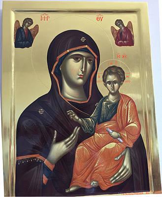 Virgin Hodegetria Poster by George Lemo