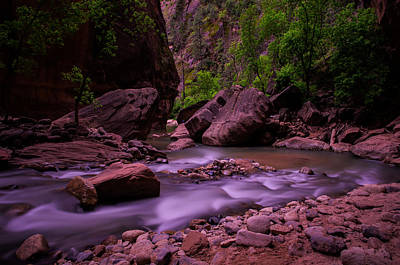 Virgin River The Narrows Zion National Park Poster by Scott McGuire