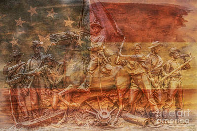 Virginia Monument At Gettysburg Battlefield Poster by Randy Steele