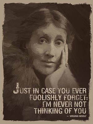 Virginia Woolf Quote Poster by Afterdarkness