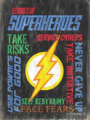 Virtues Of A Superhero 2 Poster by Debbie DeWitt