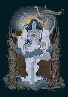 Vishnu - Nuclear Poster by Cassiopeia Art
