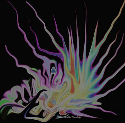Visionary An Abstract Digital Painting Poster by Gina Lee Manley