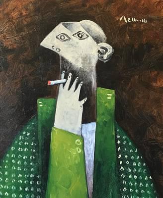 Vitae The Smoker Poster by Mark M Mellon