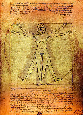 Vitruvian Woman Poster by Daniel Hagerman