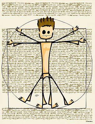 Vitruvius Poster by Giuseppe Lentini