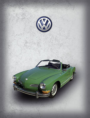 Volkswagen Karmann Ghia Poster by Daniel Hagerman