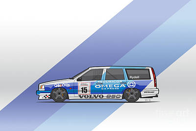 Volvo 850r Twr British Touring Car Championship  Poster by Monkey Crisis On Mars